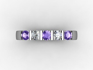 Tanzanite and Diamond 0.61cts. in Palladium - 9