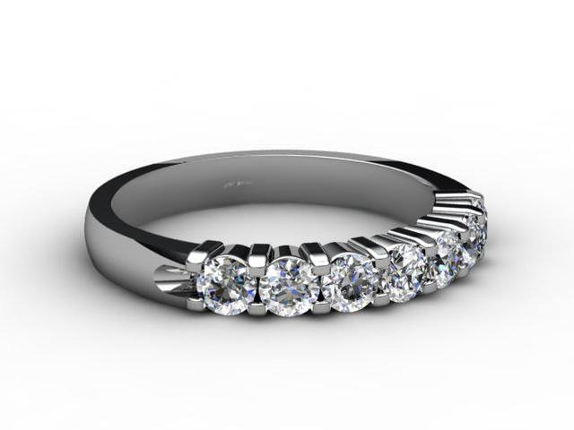 Half-Set Diamond Eternity Ring 0.65cts. in Palladium