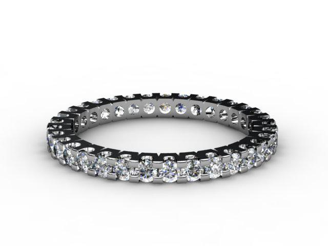 Full Diamond Eternity Ring 0.82cts. in Palladium