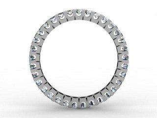 Full Diamond Eternity Ring 0.82cts. in Palladium - 3