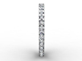 Full Diamond Eternity Ring 0.82cts. in Palladium - 6