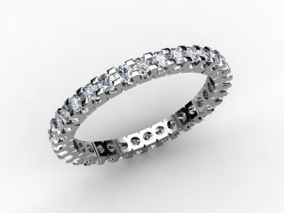 Full Diamond Eternity Ring 0.82cts. in Palladium - 12