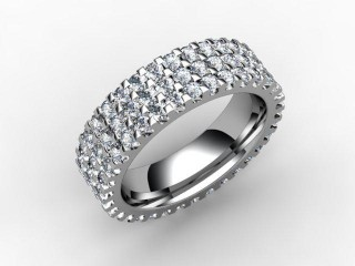 Full Diamond Eternity Ring 1.87cts. in Palladium