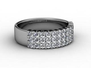Half-Set Diamond Eternity Ring 0.72cts. in Palladium-88-66067
