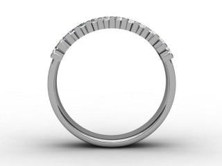 Half-Set Diamond Eternity Ring 0.72cts. in Palladium