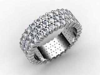 Full Diamond Eternity Ring 2.70cts. in Palladium