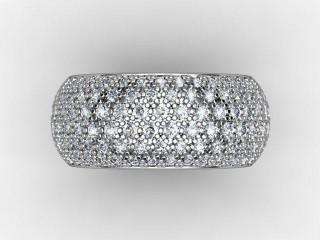 Full Diamond Eternity Ring 2.16cts. in Palladium