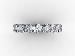 Full Diamond Eternity Ring 2.63cts. in Palladium