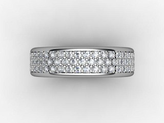 Half-Set Diamond Eternity Ring 0.77cts. in Palladium