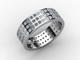 Full Diamond Eternity Ring 2.85cts. in Palladium