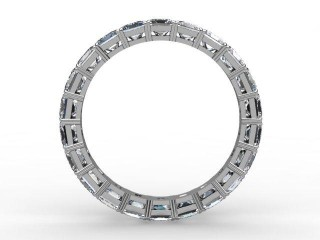 Full Diamond Eternity Ring 3.75cts. in Palladium - 3