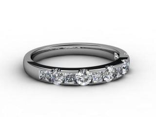 Half-Set Diamond Eternity Ring 0.78cts. in Palladium