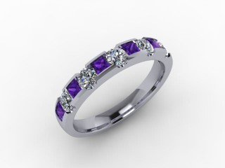 Amethyst and Diamond 0.68cts. in Palladium - 12