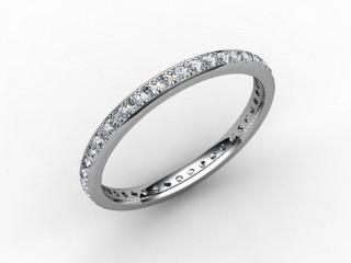 Full Diamond Eternity Ring 0.40cts. in Palladium