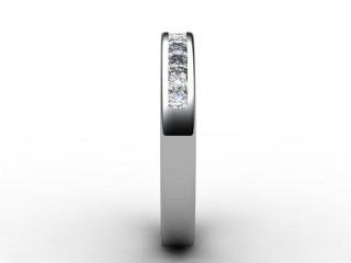 Half-Set Diamond Eternity Ring 0.65cts. in Palladium