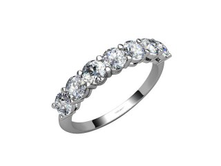 Half-Set Diamond Eternity Ring 1.02cts. in Palladium