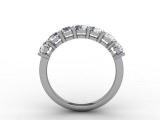 Half-Set Diamond Eternity Ring 1.02cts. in Palladium - 3