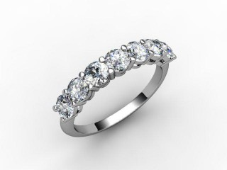 Half-Set Diamond Eternity Ring 1.02cts. in Palladium - 12