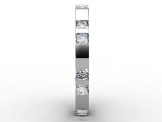 Half-Set Diamond Eternity Ring 1.35cts. in Palladium