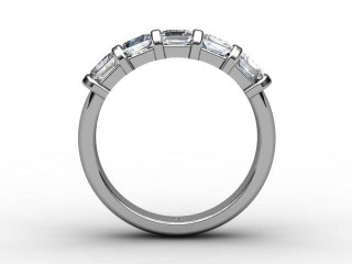 Half-Set Diamond Eternity Ring 1.28cts. in Palladium