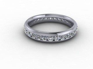 Full Diamond Eternity Ring 0.89cts. in Palladium
