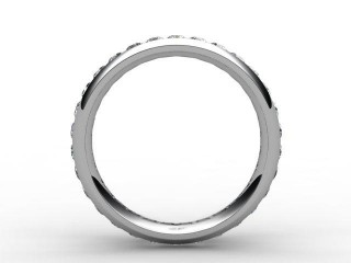 Full Diamond Eternity Ring 0.89cts. in Palladium