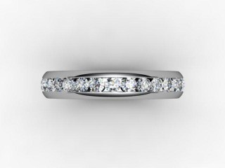 Full Diamond Eternity Ring 0.89cts. in Palladium - 9