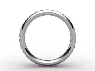 Pink Sapphire and Diamond 0.92cts. in Palladium