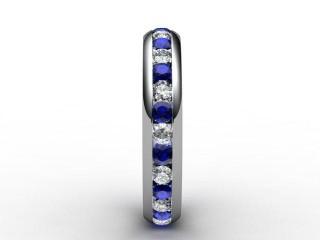 Blue Sapphire and Diamond 0.92cts. in Palladium