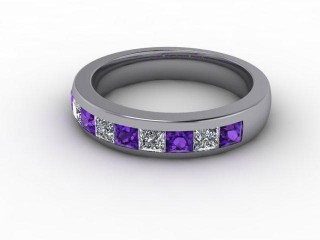 Amethyst and Diamond 1.12cts. in Palladium-88-66100-112