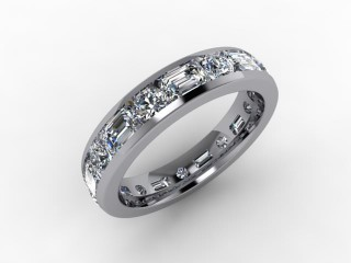 Full Diamond Eternity Ring 3.43cts. in Palladium
