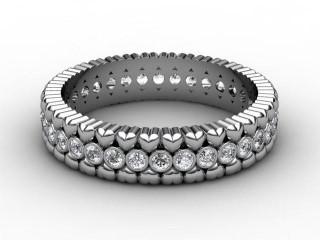 Full Diamond Eternity Ring 0.34cts. in Palladium-88-66113