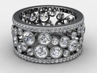 Full Diamond Eternity Ring 3.25cts. in Palladium-88-66114