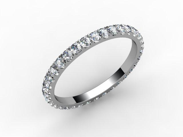 Full Diamond Eternity Ring 0.72cts. in Palladium