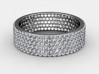 Full Diamond Eternity Ring 1.25cts. in Palladium