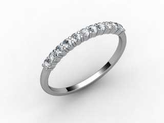 Half-Set Diamond Eternity Ring 0.22cts. in Palladium