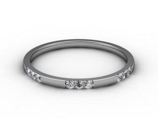 Half-Set Diamond Eternity Ring 0.18cts. in Palladium
