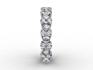 Full Diamond Eternity Ring 1.66cts. in Palladium