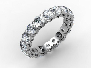 Full Diamond Eternity Ring 2.63cts. in Palladium