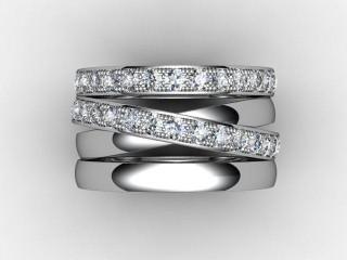 Full Diamond Eternity Ring 1.75cts. in Palladium