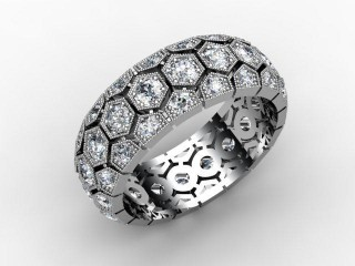 Full Diamond Eternity Ring 2.00cts. in Palladium