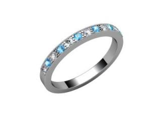 Blue Topaz and Diamond 0.24cts. in Palladium-88-66125-113