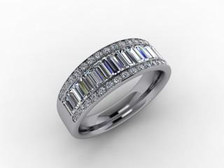 Half-Set Diamond Eternity Ring 0.82cts. in Palladium