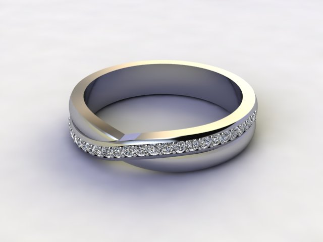 Half-Set Diamond Eternity Ring 0.20cts. in Palladium