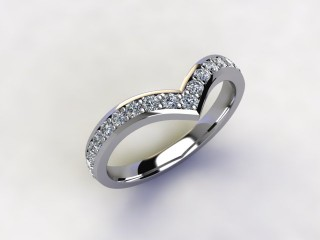 Half-Set Diamond Eternity Ring 0.38cts. in Palladium - 12
