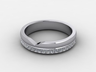 Half-Set Diamond Eternity Ring 0.23cts. in Palladium