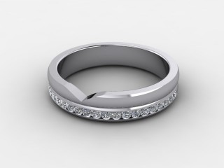 Half-Set Diamond Eternity Ring 0.24cts. in Palladium