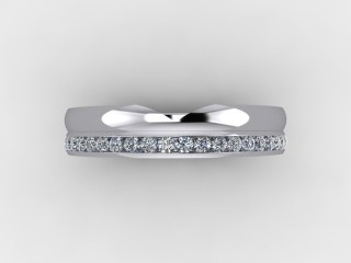 Half-Set Diamond Eternity Ring 0.24cts. in Palladium - 9