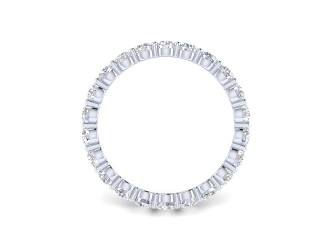 Full Diamond Eternity Ring 1.81cts. in Palladium