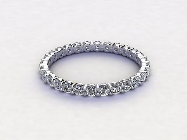 Full Diamond Eternity Ring 0.85cts. in Palladium